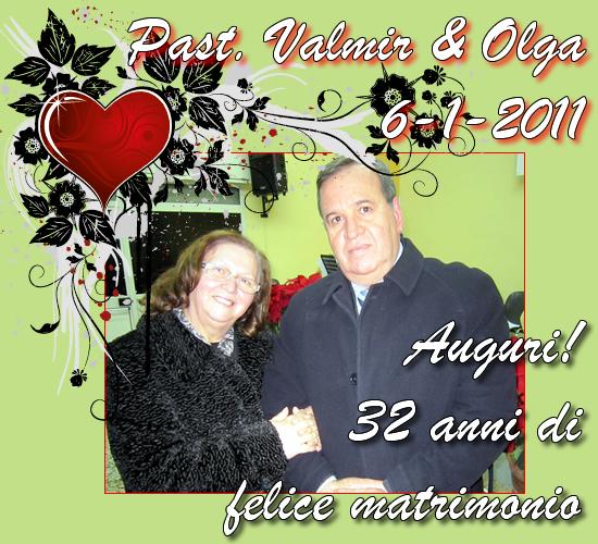 Anniversario Matrimonio 32 Anni.Auguri Al Past Valmir Olga Per Il Loro Anniversario Di