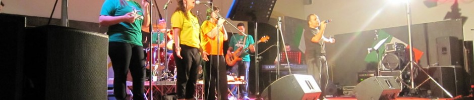 Foto del concerto insieme a Marcelo Rodriguez